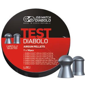 JSB Exact Diabolo Test .177 Pellets 4.5 4.51 4.52mm Sample Tester Hunting Airgun 350 Preview