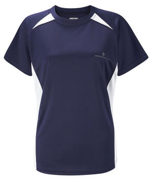 Ronhill Womens Pursuit Short Sleeve Tee - Navy/White (05230-028) Preview