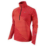View Item Nike Womens Element Jacquard Half-Zip Long Sleeve Running Shirt (465568-623)