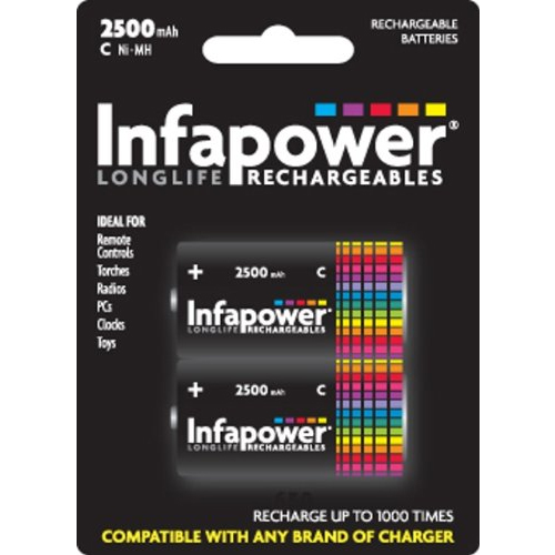 GENUINE BRAND NEW INFAPOWER C 2600MAH RECHARGEABLE BATTERIES BIF1034 B005