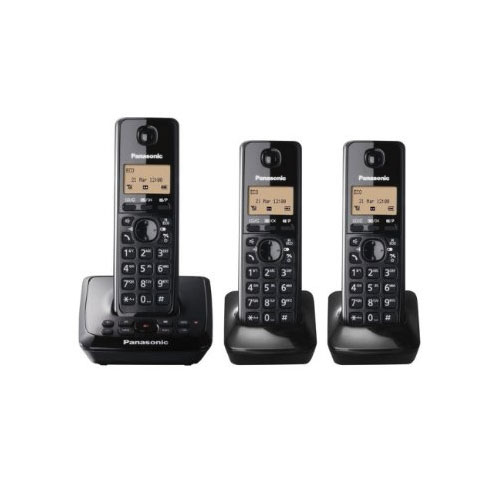 panasonic kx tg2723eb trio dect cordless telephone set. Black Bedroom Furniture Sets. Home Design Ideas
