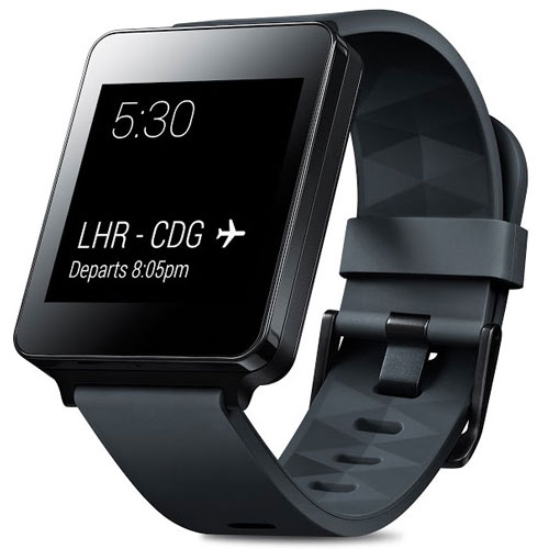 LG GW100 Smartwatch Watch Black Titan By Android Wear (Black)
