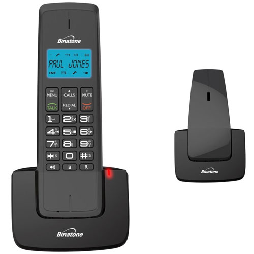 New binatone designer 2115 twin dect cordless phone with answer machine in black ebay - Designer cordless home phones ...