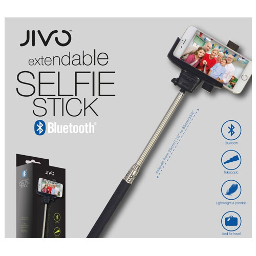 new jivo smartphone bluetooth remote selfie stick extendable monopod iphone 6. Black Bedroom Furniture Sets. Home Design Ideas