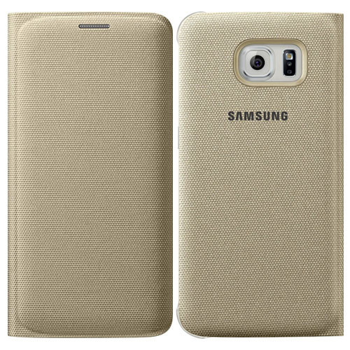 look case official samsung galaxy s6 flip wallet cover gold latest slab