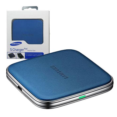 new genuine samsung galaxy s5 wireless charger pad qi plate blue ep pg900ilegww ebay. Black Bedroom Furniture Sets. Home Design Ideas