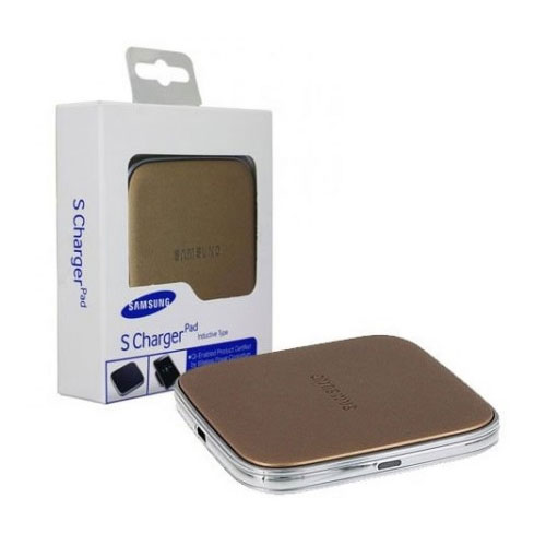 genuine samsung galaxy s5 s6 wireless charger pad qi plate gold ep pg900ifegww ebay. Black Bedroom Furniture Sets. Home Design Ideas