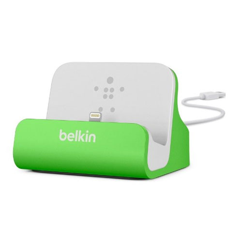 NEW BELKIN CHARGE SYNC DESKTOP DOCK FOR APPLE LIGHTNING IPHONE 5 5S 6 6S GREE