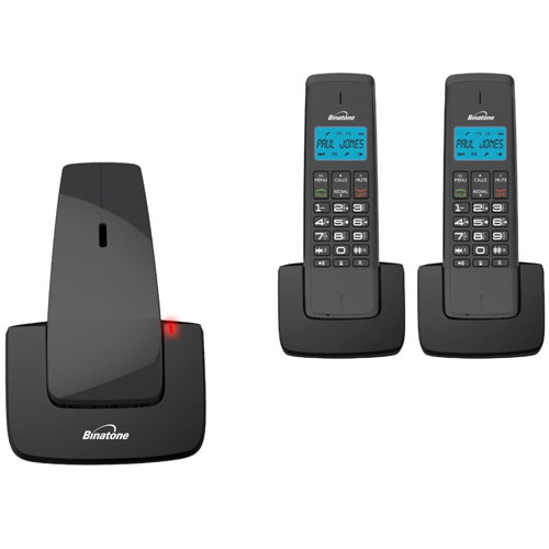 New binatone designer 2115 triple dect cordless telephone answer machine black ebay - Designer cordless home phones ...