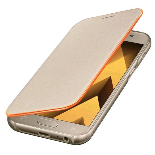 new genuine samsung original neon flip wallet cover for galaxy a3 2017 gold ebay. Black Bedroom Furniture Sets. Home Design Ideas