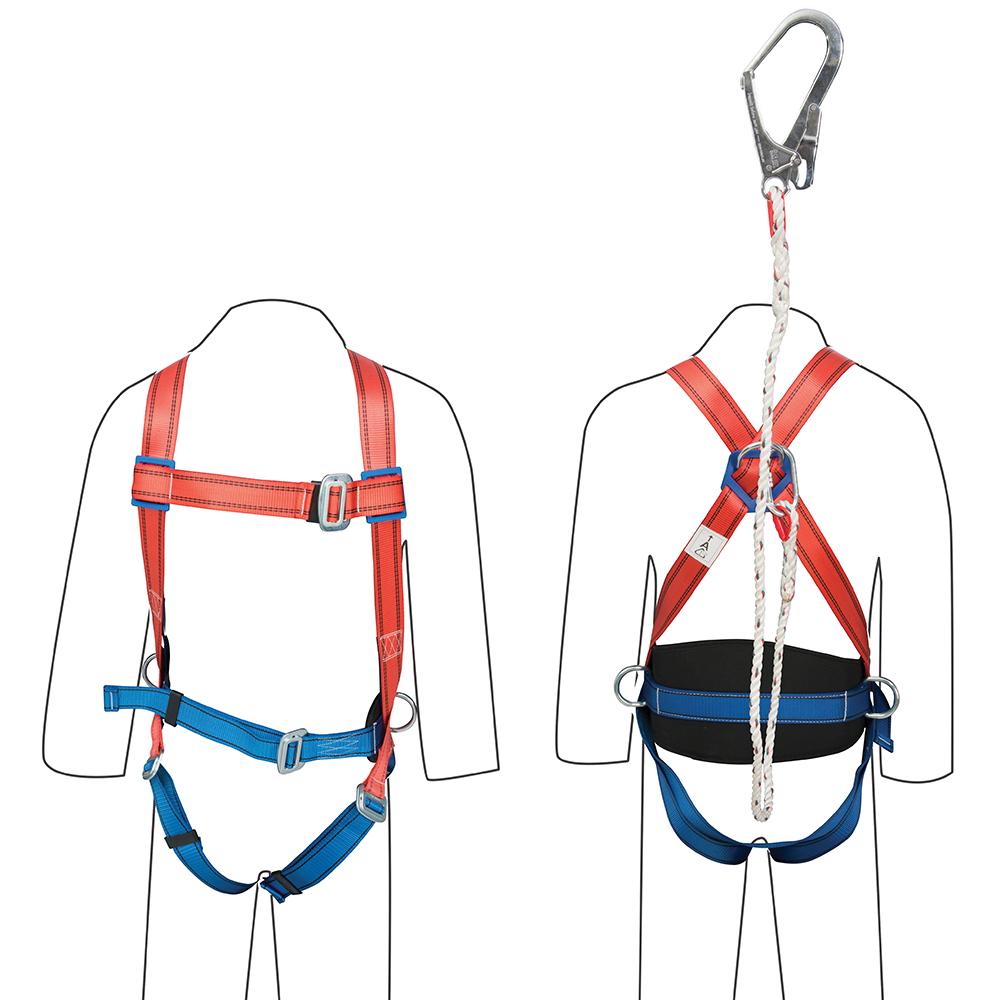 gu5027 silverline restraint kit harness lanyard safety. Black Bedroom Furniture Sets. Home Design Ideas