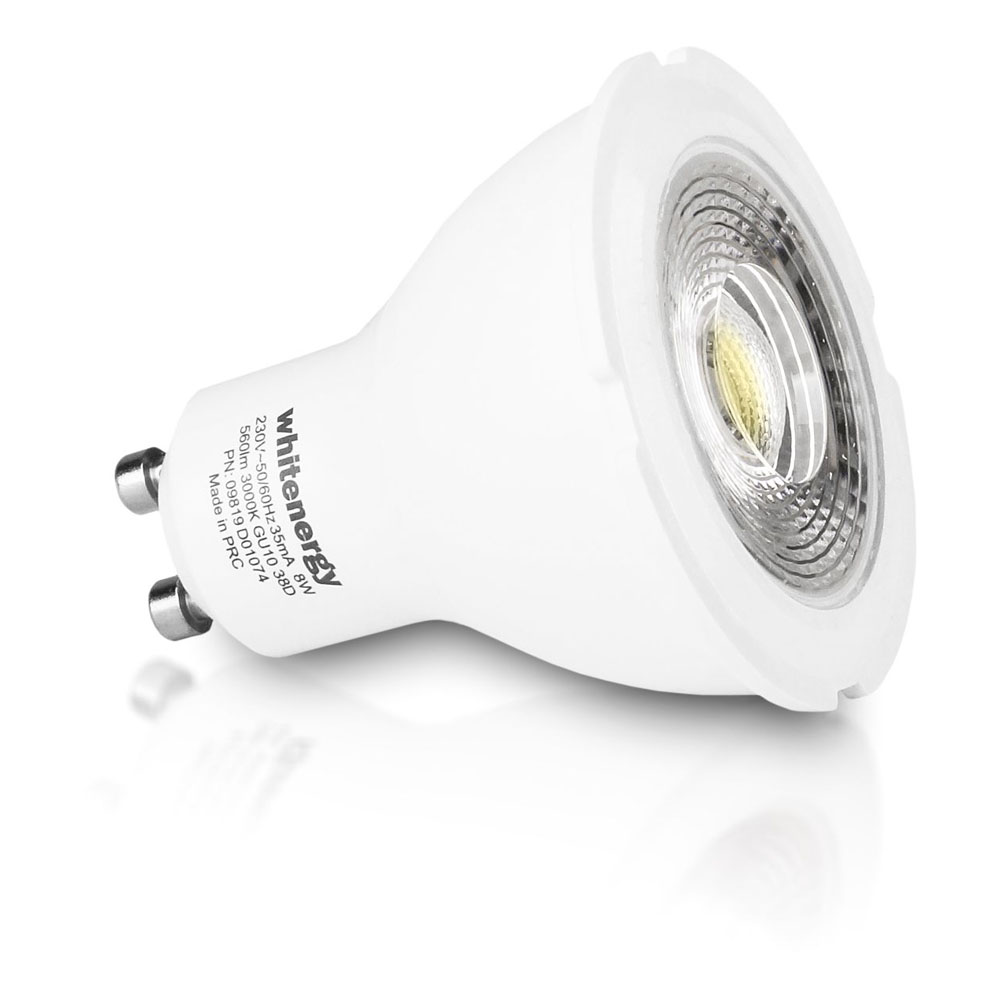 whitenergy led bulb 1x cob led mr16 gu10 8w 230v white warm 09819 ebay. Black Bedroom Furniture Sets. Home Design Ideas