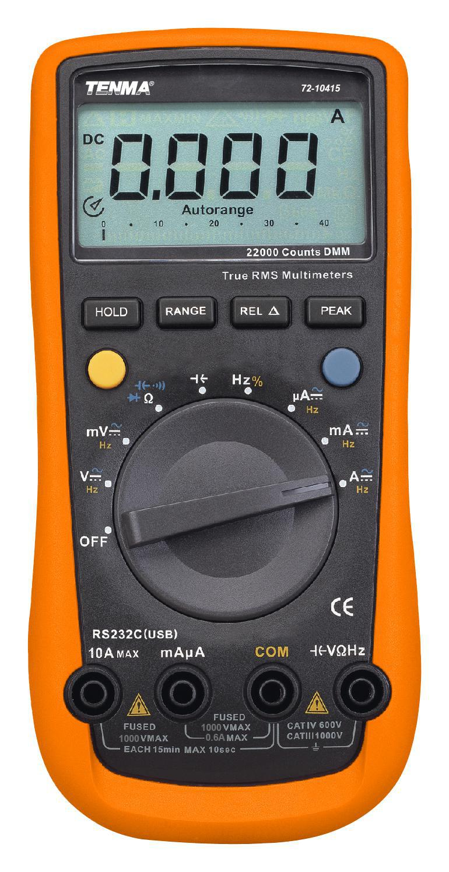 Automotive Digital Multimeter : Tenma manual auto ranging digital multimeter for ac dc