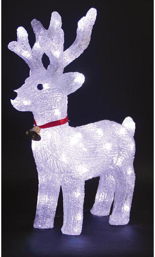 Indoor led acrylic reindeer xmas decoration for Christmas deer decorations indoor