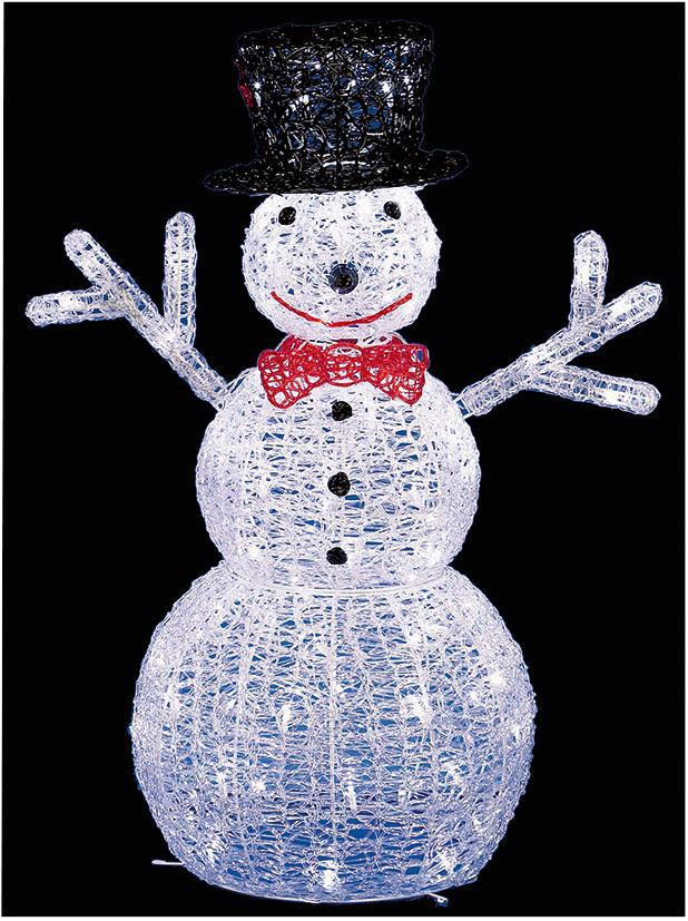 76cm led light up acrylic snowman statue xmas in outdoor for Outdoor light up ornaments