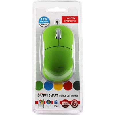 SPEEDLINK Snappy USB Mobile Mouse Green SL-6142-SGN