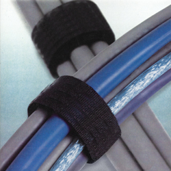 Black Velcro Strap 15mm Cable Tie Tidy 1m Lengths