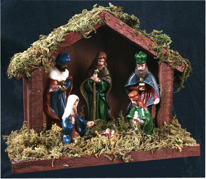 Nativity Scene 6 Firgures Christmas Decoration