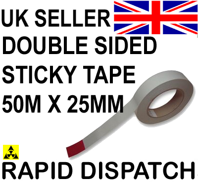 Double Sided Adhesive Sticky Tape 25mm x 50 meters