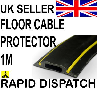 pc230 cable floor cover protector hazard black yellow 1m ebay. Black Bedroom Furniture Sets. Home Design Ideas