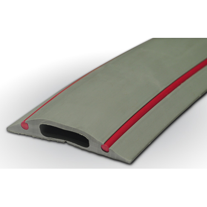 pc236 cable floor cover protector rubber danger grey red 1m ebay. Black Bedroom Furniture Sets. Home Design Ideas