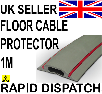 cable floor cover protector rubber danger grey amp red 1m ebay. Black Bedroom Furniture Sets. Home Design Ideas