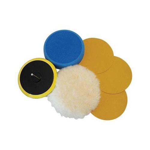 bohrmaschine schleif polierset 6 tlg 125mm diy elektrowerkzeug zubeh r ebay. Black Bedroom Furniture Sets. Home Design Ideas