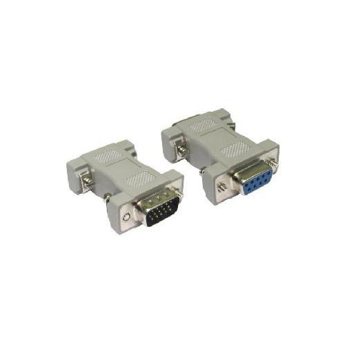 VGA 15 Pin Male to VGA 9 Pin Female Adaptor Convertor
