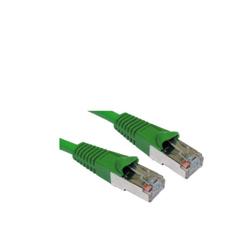 Cat 5e Snagless Shielded Ethernet Cable Green 2 Metres