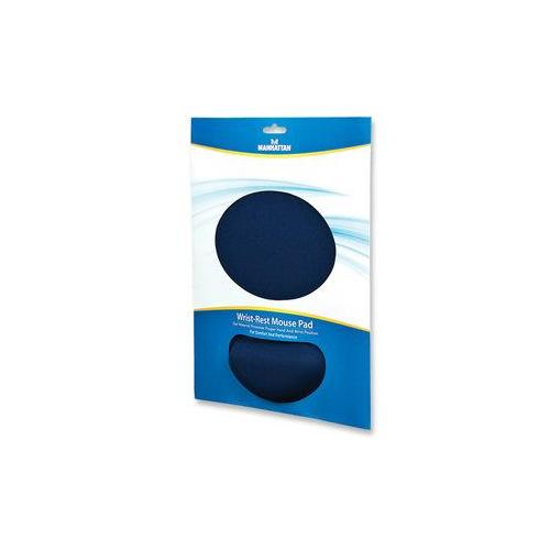 434386 Manhattan Ergonomic Gel Mouse Pad with Wrist Rest (Blue)