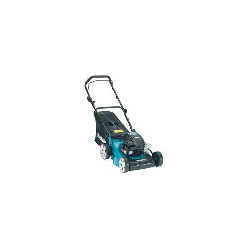 petrol lawn mower 41cm cut   makita   plm4110  gardening
