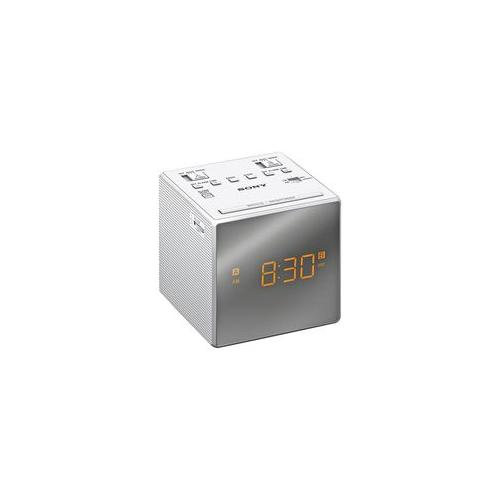 icf c1t wh sony clock radio fm am sony icf c1t white ebay. Black Bedroom Furniture Sets. Home Design Ideas