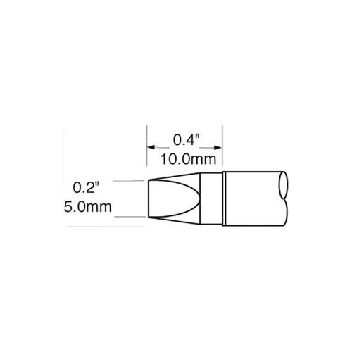 GA44964-OKI-METCAL-SFV-CH50-SOLDER-TIP-CHISEL-30DEG-5-0MM