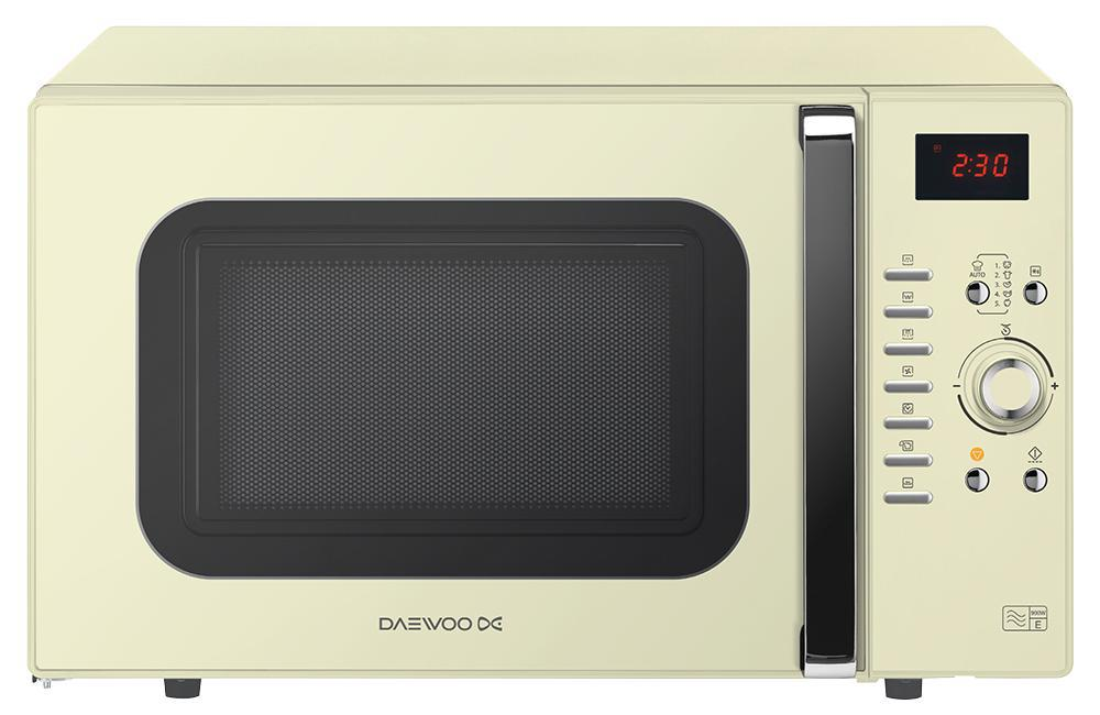 daewoo 900w microwave in cream with 1250w grill 1250w oven. Black Bedroom Furniture Sets. Home Design Ideas