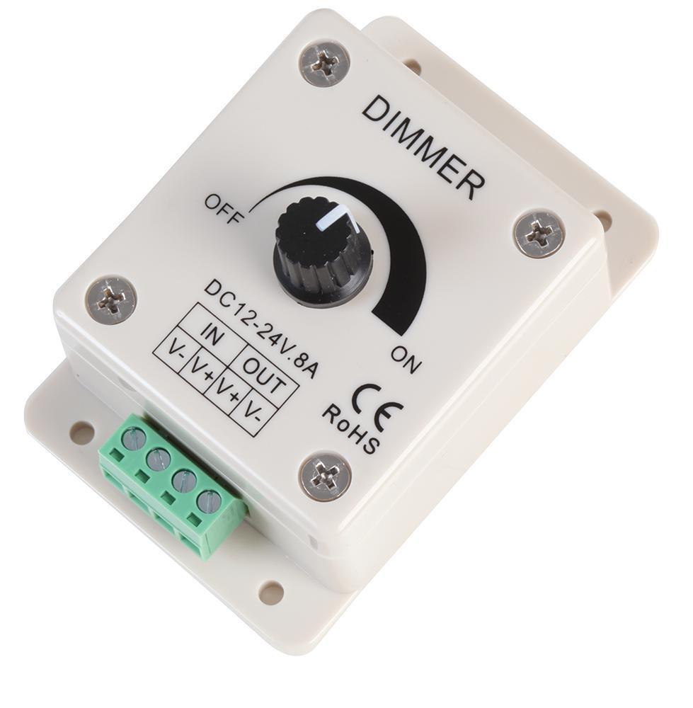 powerpax led dial dimmer led dimming driver 12v 24v 8a pwm cv ebay. Black Bedroom Furniture Sets. Home Design Ideas