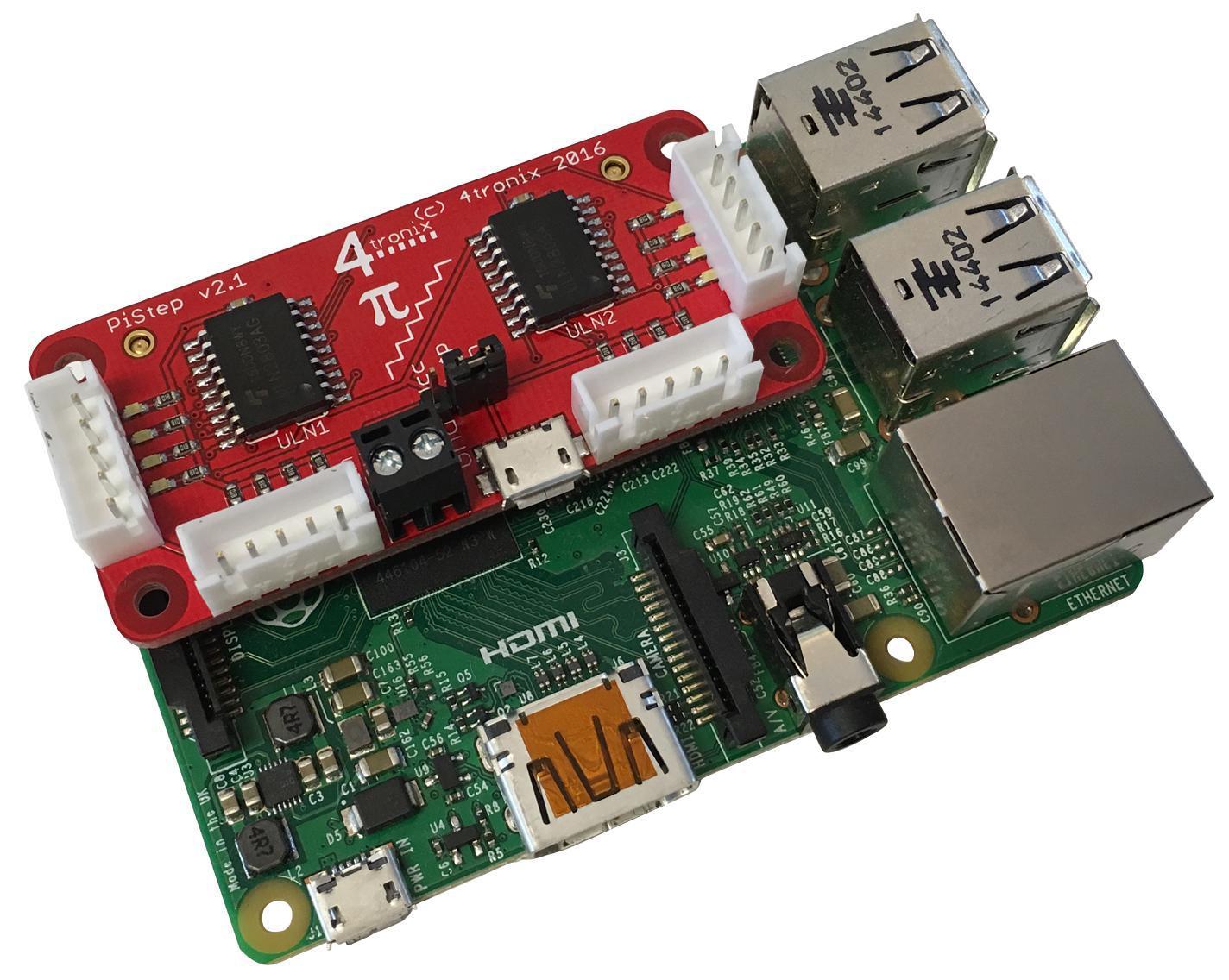 4tronix pistep2q quad stepper motor control board ebay for Stepper motor controller board