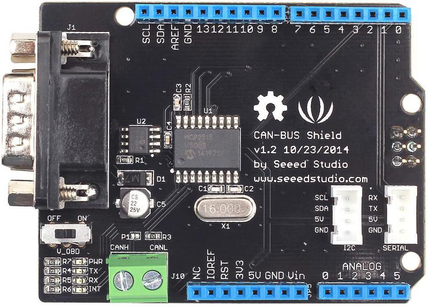 seeed studio 113030021 can bus shield v1 2 for arduino. Black Bedroom Furniture Sets. Home Design Ideas