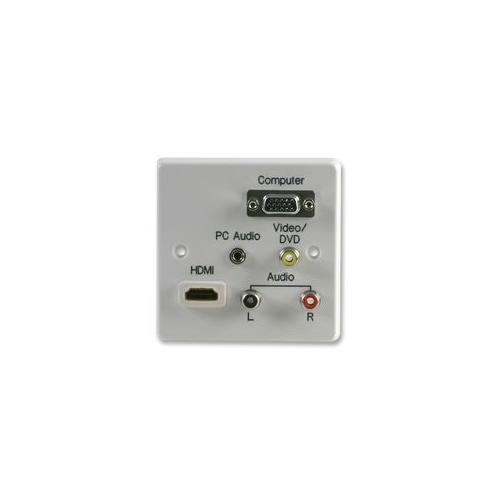 1GC 043 AV Wall Plate 1 Gang HDMI AV VGA Jack VGA Crimp Terminals ...