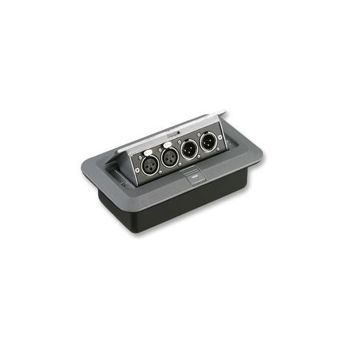 Xlr Floor Box Of Av16211 Floor Box 2x Xlr P 2x Xlr Sockets Ebay