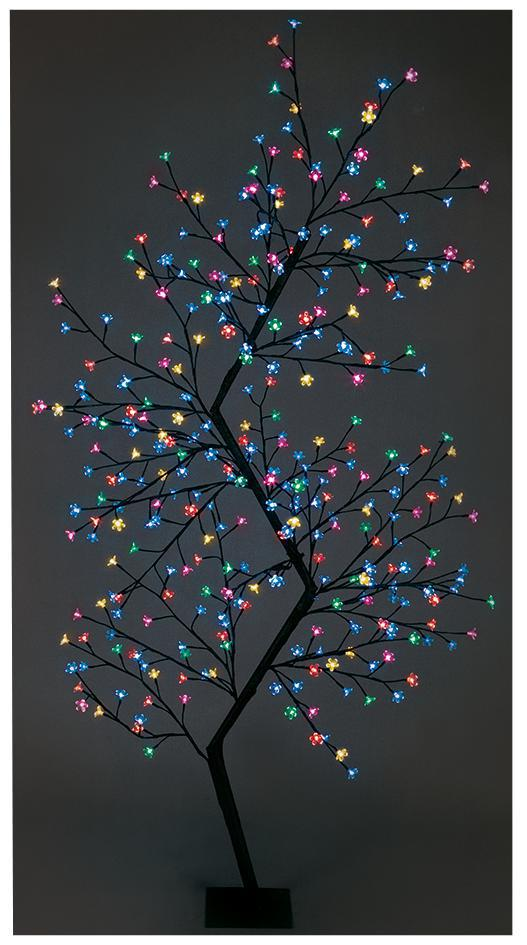 2 1m Multi Colour Zig Zag Tree Xmas Lights Indoor Outdoor