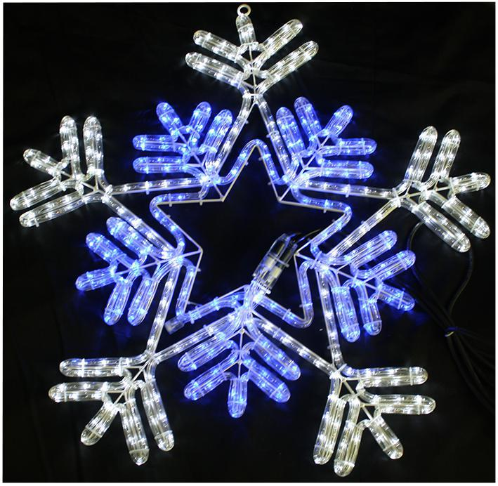 Cm blue white led snowflake rope light xmas lights