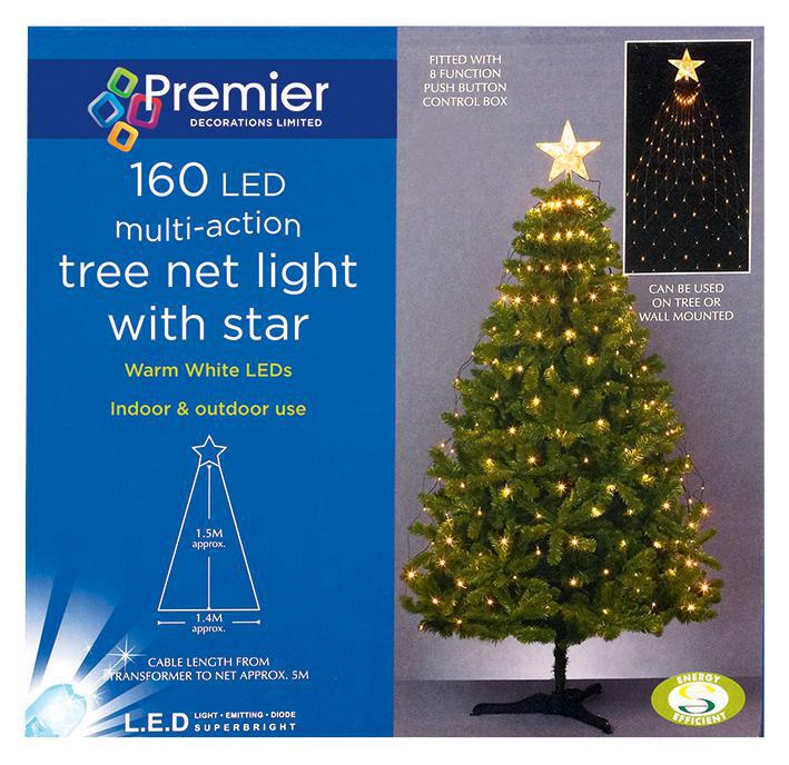 Tree net light 160 leds xmas lights indoor outdoor for 160 net christmas decoration lights clear