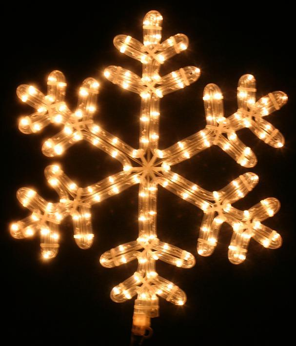 Snowflake Ropelight White LED Xmas Lights Indoor Outdoor