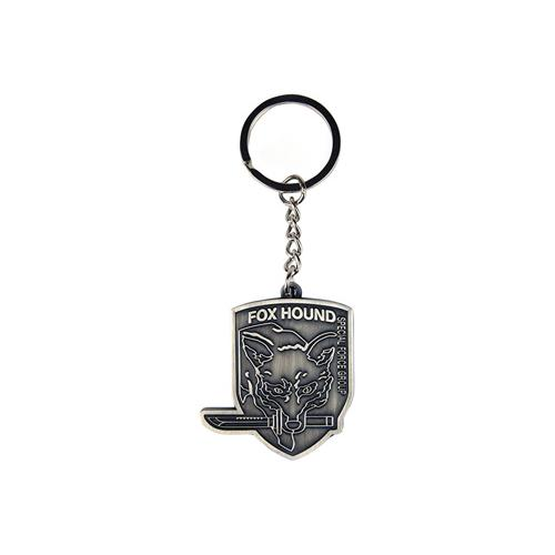 (GE0456) METAL GEAR SOLID Rising Foxhound Metal Keychain