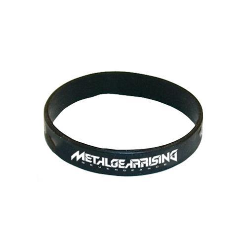 (GE0458) METAL GEAR Rising Silicone Wristband, Black