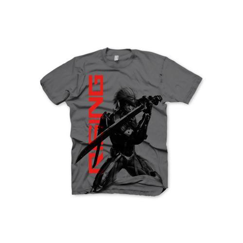 (GE1640L) METAL GEAR SOLID Rising Raiden Large T-Shirt, Dark Grey