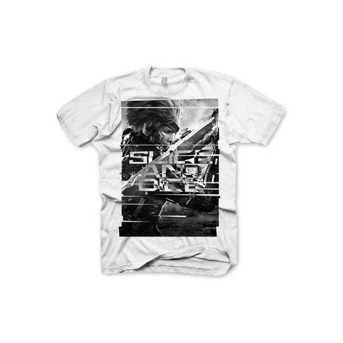 (GE1641XL) METAL GEAR SOLID Rising Slice & Dice Extra Large T-Shirt, Light Grey