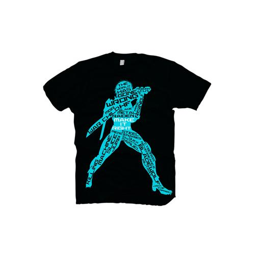 (GE1643S) METAL GEAR SOLID Rising Chaos Small T-Shirt, Dark Blue