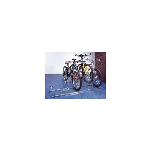 320077 , Cycle Rack for 5 Cycles Zinc Plated Grey