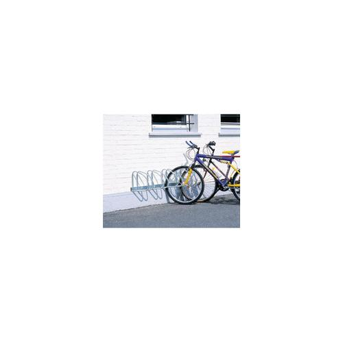 320080 , Wall/Floor Mounted Cycle Rack 4-Bike Aluminium